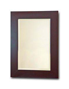 Amazon.com - Elegant Home Fashions Chatham Collection Framed Beveled-Edge Glass Mirror, Dark Espresso - Wall Mounted Mirrors