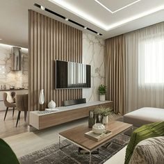 living room design ideas to give you a new style with a cozy and cool tv wall design decoration with a limited budget Living Room Partition, Apartment Interior, Living Room Tv Unit Designs, Modern Apartment, House Interior, Living Room Tv, Living Room Design Modern, Modern Apartment Design, Apartment Interior Design