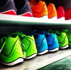 We'll keep your run colorful. Which shade of would you pick? Rainbow Sneakers, Colorful Sneakers, Sneakers Nike, Sports Shoes, Fashion Shoes, Exercise, Running, Workout, Colors