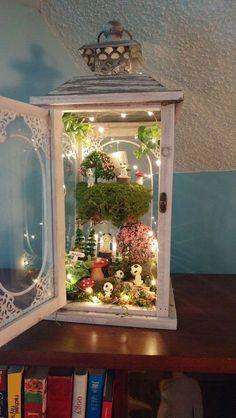 DIY Fairy Garden design et accessoires - Jardin Miniature Idee Diy Fairy Garden, Big Garden, Backyard Garden Design, Garden Crafts, Garden Projects, Garden Art, Home And Garden, Garden Beds, Fairies Garden