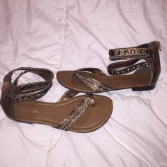 Ankle strap sandals Cute sandals with ankle strap. Worn once. Like new condition. Paprika Shoes Sandals