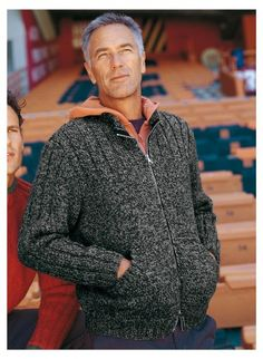 another nice men's zippered sweater pattern from Bergere de France Sweater Knitting Patterns, Knitting Designs, Jacket Pattern, Men Sweater, Nice Men, Sweaters, Knits, Men's Knits, Knitting Machine