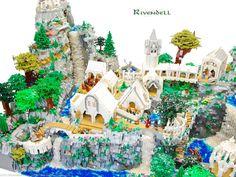 Rivendell made of LEGO- by Blake Baer e Jack Bittner
