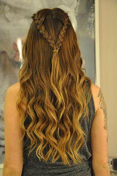 Hairstyles Wavy Hair Updo New Ideas Pretty Hairstyles, Girl Hairstyles, Braided Hairstyles, Hairstyles Videos, Braided Ponytail, Medieval Hairstyles, How To Make Hair, Love Hair, Prom Hair