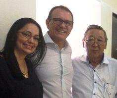 18/12/2015 - Maristela Franco Romão (SMAURB), Antônio Falco Júnior (Gerente Regional da CETESB) e Otávio Okano (Presidente da CETESB) na solenidade de lançamento do SIGOR em São José do Rio Preto, SP