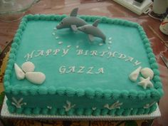 Dolphin Cake - handcrafted dolphins