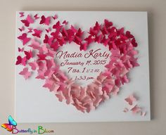 20 x 24 Personalized Butterfly Birth by TheButterflyInBloom