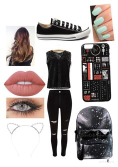 """""""I'm really bored"""" by bruhits-lovefor-fashion on Polyvore featuring River Island, Converse, Lipsy, Lime Crime and NARS Cosmetics"""