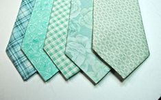 Mint Cotton Mens Neckties Mint Green Plaid by tuxandtulle