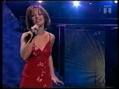 "Natasha St-Pier  wins at Eurovision 2001 with "" Je n'ai que mon âme"" Music starts at 0:46"
