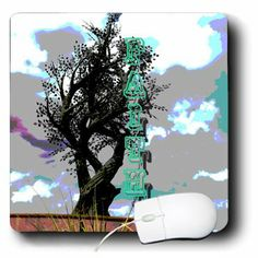 mp_184227_1 Jos Fauxtographee- Words - The word Faith going vertically on a page near a posterized tree - Mouse Pads