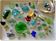 Crystal Cove sea glass:  Dear David, I was so thrilled to receive your newsletter.   As a genuine die hard sea glass hunters we are just a little obsessed.  We want to share our