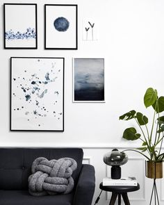 Blue Waters Splash is inspired by the beautiful northern nature and painted in cold, dusty blues with an simple but evocative expression. Decorating Your Home, Interior Decorating, Interior Design, Ok Design, Colorful Apartment, Room Decor, Wall Decor, Wall Art, Space Interiors