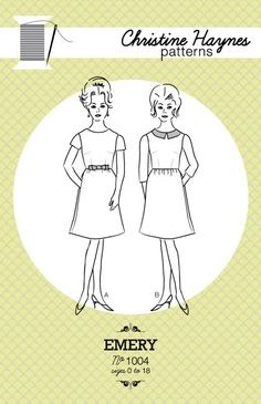 The Emery Dress is a classic vintage-inspired dress that fits every body type and nearly every situation perfectly.There are two views, and both versions have a fitted bodice that is shaped with bust darts, waist darts in the front and the back, and darts at the back of the neck. The gathered...