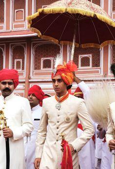 Sawai Padmanabh Singh, Maharaja of Jaipur, 18 — Princess Diya Kumari & Maharaja Narendra Singh's oldest was officially crowned this yr on his birthday. The avid polo player is a Sr. at Millfield School in England Indian Bridal Wear, Indian Wedding Outfits, Wedding Dress, Traditional Dress For Boy, Diwali, Royal Pic, Ganesh, Holi, Duleep Singh