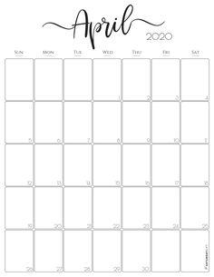 Get 2020 Calendar Free Printable 2020 calendar free printable Stylish Vertical 2020 Monthly Calendar. {Free Printables} - 11754 Free Printable April 2020 Calendar Editable Pages April Month Calendar, April Calendar Printable, Blank Monthly Calendar Template, Print Calendar, Calendar Design, Printable Planner, Free Printables, Monthly Calendars, Printable Calendars