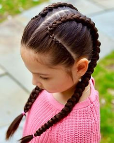 Winter Hairstyles, Cute Hairstyles, Braided Hairstyles, Cute Toddler Hairstyles, Little Girl Hairstyles, Fall Hair Highlights, Belle Hairstyle, Girl Hair Dos, Tight Braids