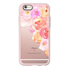 iPhone 6 Plus/6/5/5s/5c Case - Lovely Watercolor Flowers Pinks /... (150 BRL) ❤ liked on Polyvore featuring accessories, tech accessories and iphone case