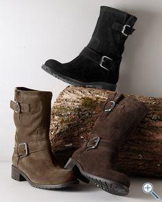 Edda Short Italian Suede Boots - Garnet Hill