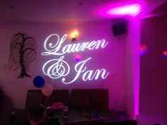Have your name in lights at your wedding disco www.alsdiscokaraoke.co.uk