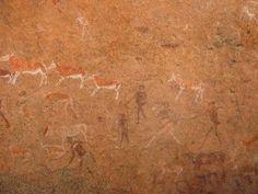 Brandburg rest camp.  Rock paintings.  Brandburg = fire mountain