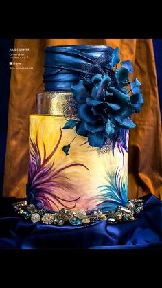 "Cake by Julie Eslinger of  Centerplate. Inspired by Patricia Avendano 2013 ""Coleccion Fiesta"""