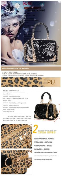 Leopard grain women handbags,shoulder bag$24.90