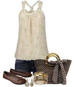 Summer outfit http://misspool.com find more women fashion ideas on www.misspool.com                                                                                                                                                      More
