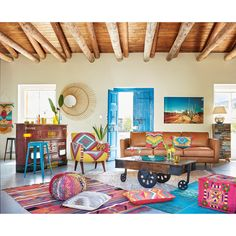Awesome Mexican Modernism For New Home Decor Inspiration - Page 20 of 24 Mexican Living Rooms, Mexican Style Decor, Mexican Style Homes, Mexican Interior Design, Living Room Decor, Bedroom Decor, Colourful Living Room, Deco Boheme, Bohemian Decor