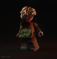The Last Of Us Clicker Lego by my so talented hubby © Mehdi Dahmane #TLOU #naughtydog #TheLastOfUs #3D #sculpting #C4D #lego #playstation