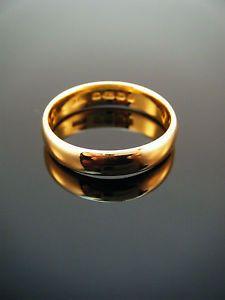 Antique edwardian 22ct gold wedding band ring bham 1904 size us