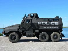 Fort Pierce Police Department unveils new armored vehicle Police Truck, Police Cars, Army Vehicles, Armored Vehicles, Rescue Vehicles, Armored Truck, Lifted Ford Trucks, Best Luxury Cars, Military Weapons