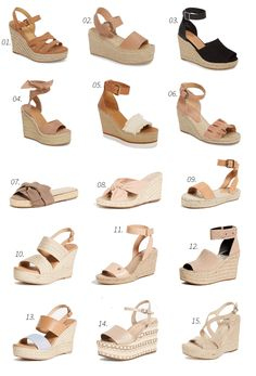 That doesn't absolutely adore gorgeous wedges?, view our great selection of zip-back and belt wedges for every situation! Wedges Outfit, Spring Shoes, Summer Shoes, Summer Wedge Sandals, Cute Shoes, Me Too Shoes, Frauen In High Heels, Luxury Shoes, Womens High Heels