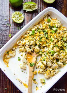 lime and cilantro cauliflower