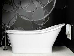 Przegląd wanien wolnostojących do łazienki. Na zdjęciu wanna Gloria  http://dekordia.pl/informacje/wanny-wolnostojace-do-lazienki.html