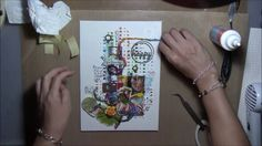 ''Happy Today'' - Mixed Media Canvas Tutorial for 2Crafty chipboard