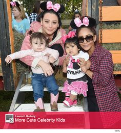 Snooki & Jwow and their kids