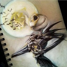 Jack Skellington pencil drawing by @manubgood_art #worldofpencils