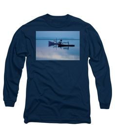Fishing Boat Long Sleeve T-Shirt featuring the photograph Dawn Rising Over The Harbor by Jeff Folger