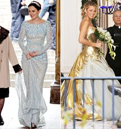 Gossip Girl brides. Tell Us whether Blair (Leighton Meester) or Serena (Blake Lively) has the better dress - They aren't comparable each are beautiful and suit their owner. I absolutely love that they aren't ordinary and very unique dresses