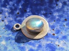 Vintage Sterling Silver Labradorite Cabochon Stone by PGSCoins, $24.95