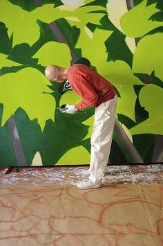 Alex Katz in His Studio