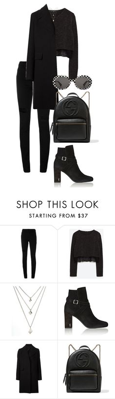 """""""Untitled #747"""" by elipenaserrano ❤ liked on Polyvore featuring Alexander Wang, Yves Saint Laurent, The Row and Gucci"""
