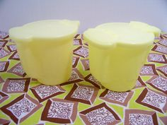Vintage Yellow Tupperware Cream and Sugar Set by SmakBoutique, $21.95