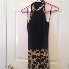 Black and gold sequence Clasp around neck beautiful back Arden B Dresses Mini
