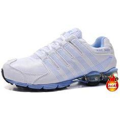 Womens Nike Shox R4 White Blue Cushion5 Nike Shox Nz 6df67e1c4