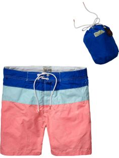 Colour block swim shorts | Men's Swim Shorts | Men Clothing at Scotch & Soda