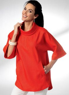 Kwik Sew Sewing Pattern Misses' Dolman Sleeve Dress and Top