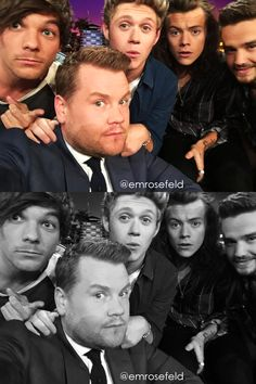 One Direction   on The Late Late Show with James Corden 5.14.15   @emrosefeld  