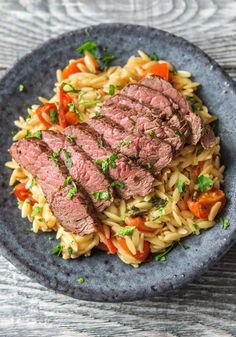 "Easy steak recipe with pasta | Try HelloFresh today with code ""HelloPinterest"" and receive $25 off your first  box."